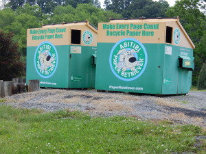 recylcing bins